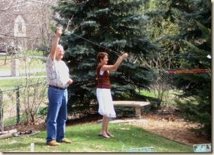 Bruce & Karissa fly minikites