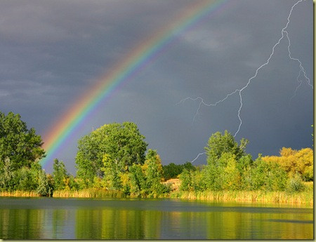 Rainbow and Spring Storm